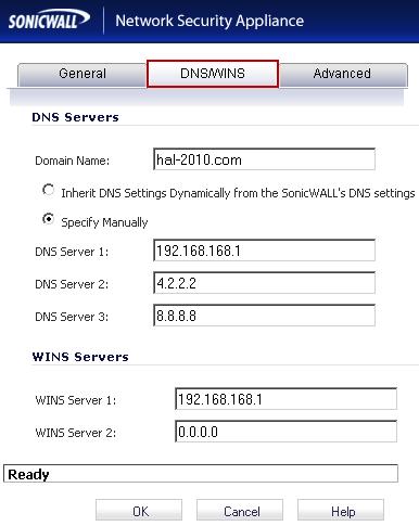 Sonicwall vlan diffrent dns servers